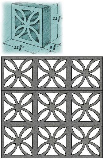 decorative wall blocks thuydao arch mid century decorative concrete screen block