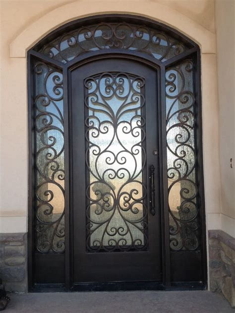 iron entry doors houzz
