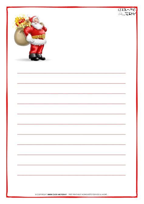 printable santa paper christmas printables