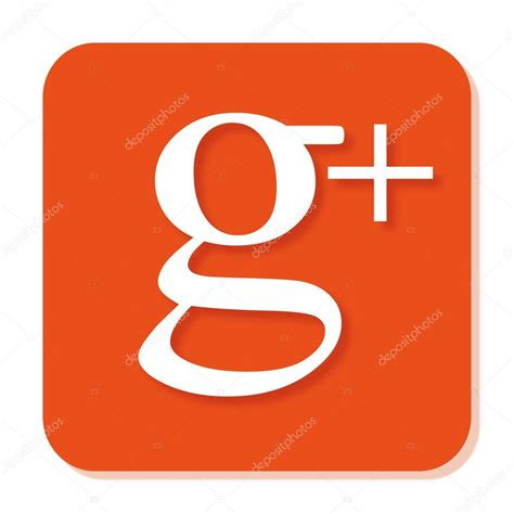 google images vector orange google plus icon with smooth blur and shadow