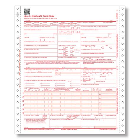 Medical Claim Form 1500 Templates Free Printable Free Cms 1500 Claim Form Template