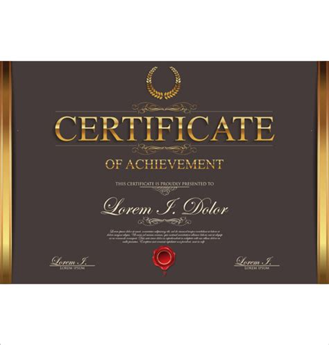modern certificate creative template vector 04 free free