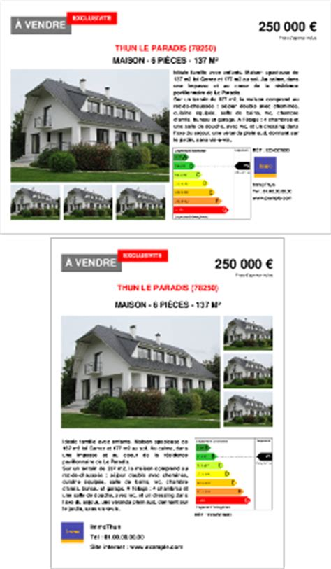 Modèle Annonce Immobilière