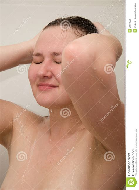 in shower royalty free stock photos image 30823938