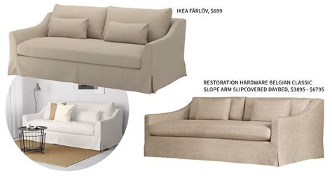 restoration hardware belgian slope arm sofa review 3 low cost high design pieces from ikea it lovely