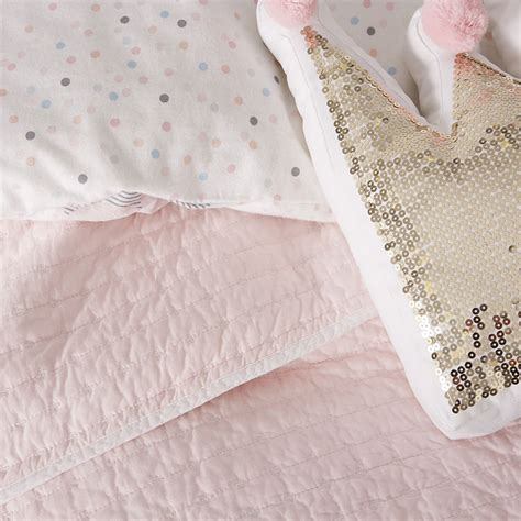 pink coverlet adairs kids princeton coverlet pale pink white