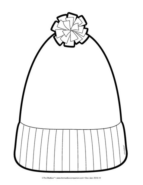 snow hat template coloring pages and coloring on