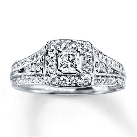 kayoutlet engagement ring 1 ct tw princess cut