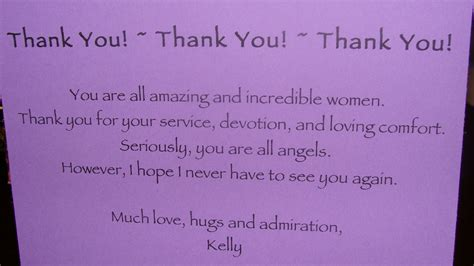 Thank You Note To My My Honest Walk 16 Of 16 Chemotherapy Is Finished