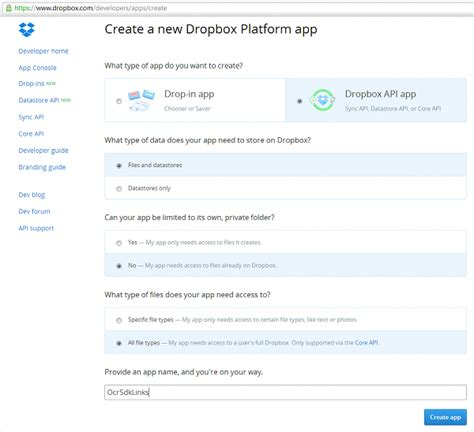 dropbox quick start processing large files using dropbox
