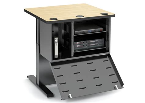 Computer Comforts by Power Lift With Av Cabinet Computer Lab Table