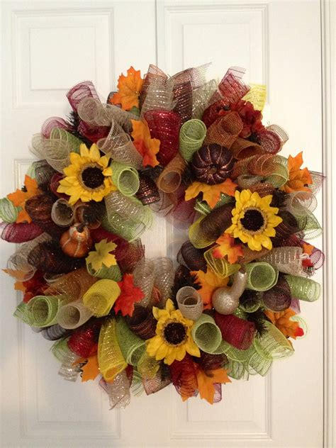 deco mesh wreath autumn curly deco mesh wreath s creations