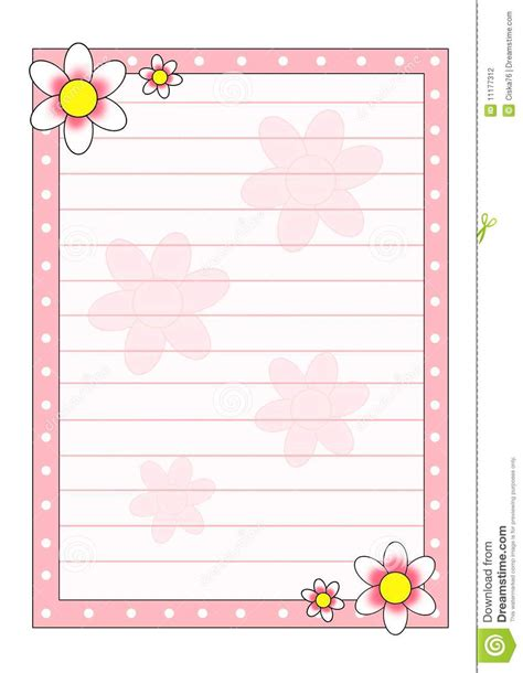 decorated writing paper decorated paper stock photography image 11177312