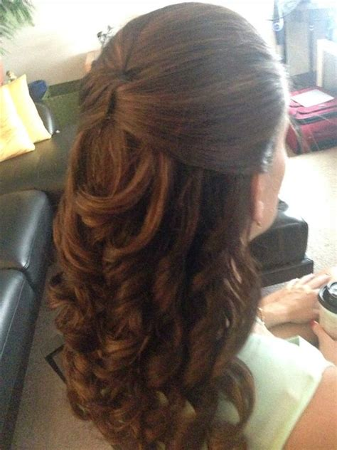 hairstyles for casual occasions half up do with curls for a casual or wedding event