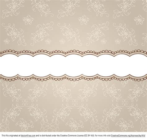pattern undangan cdr free beige floral pattern ribbon background vector
