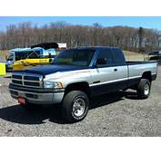 Silver  Blue Two Tone Dodge Ram 2500 Lifted Truck