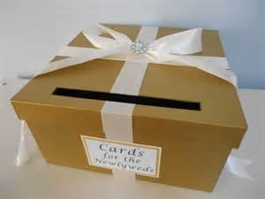 gold card box wedding gold wedding card box with personalized tag by astylishdesign