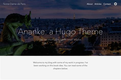 themes of hugo gohugo theme ananke hugo themes