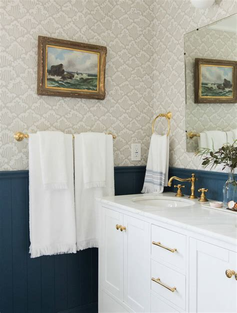 Small Black And White Bathroom Ideas the styling secret of wall mounted hooks emily henderson