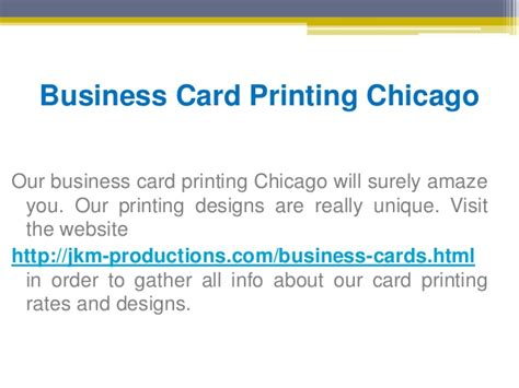 Business Card Printing Chicago