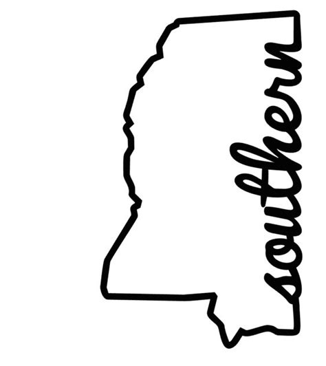 Window Decals Jackson Ms by New To Franseverythingshop On Etsy Mississippi Outline