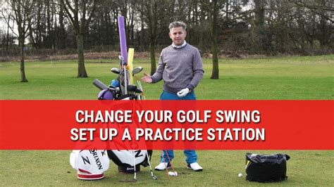 golf swing set up change your golf swing set up a practice station youtube