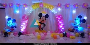 mickey mouse themed birthday decoration le royal park hotel pondicherry 171 wedding decorators