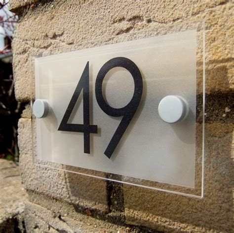 house numbers plaque acrylic house number door number sign plaque ebay