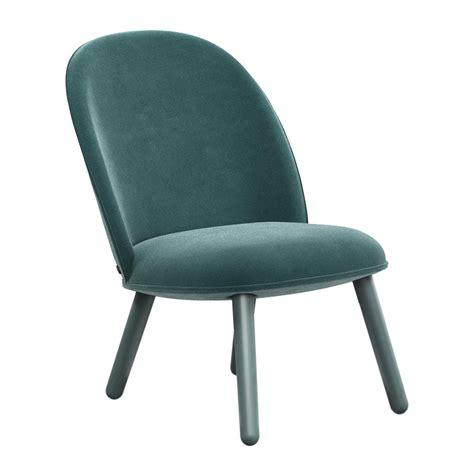Blue Lounge Chair by Buy Normann Copenhagen Ace Lounge Chair Velour Lake Blue