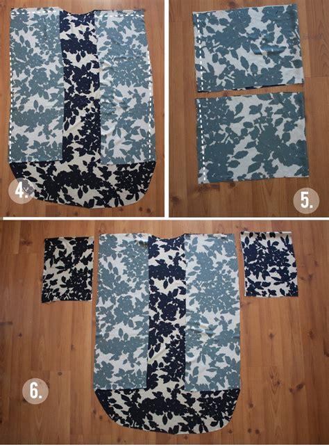kimono jacket pattern diy kimono tutorial i d probably attach the sleeves before i
