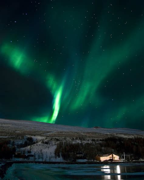 extreme iceland northern lights northern lights tour from akureyri in north iceland