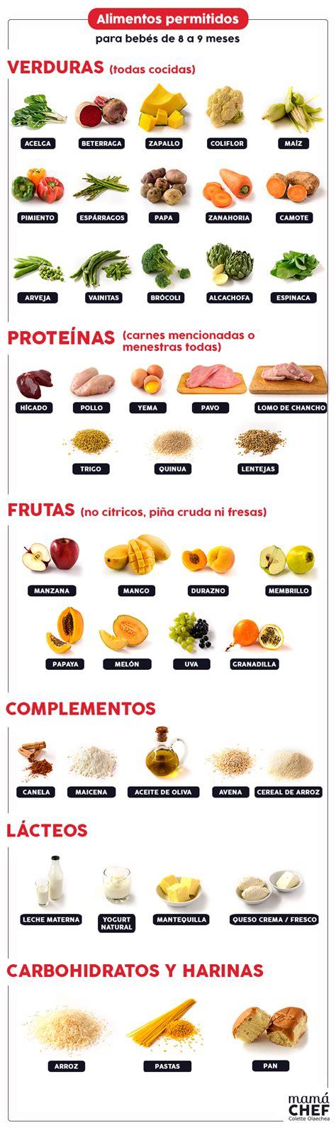 alimentos bebes 6 meses recetas para beb 233 s de 8 a 9 meses la progresi 243 n de las