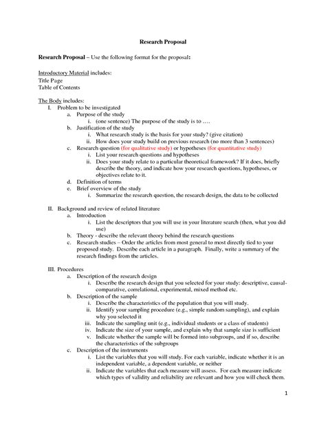 sample research proposal paper  style guidelines