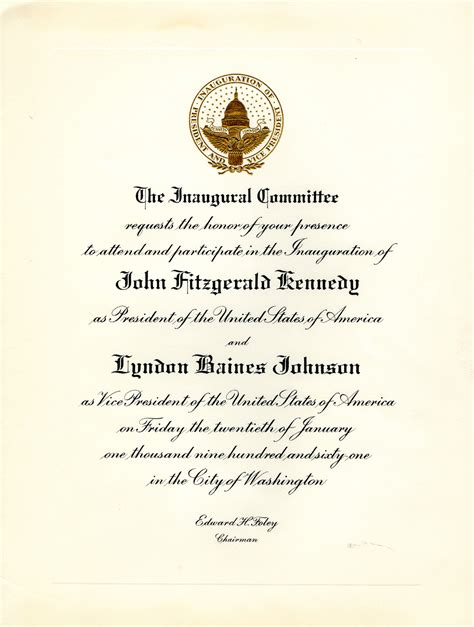 Wedding Invitation Letter To President invitation to the inauguration of president f