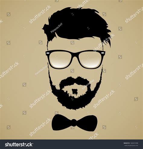 S Hairstyle Glasses Beard by Mustache Beard Glasses Hairstyle Stock Vector Illustration