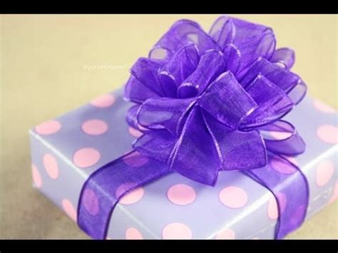 como hacer monos con liston mo 241 o pom pom puffy how to gift bows youtube
