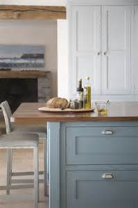 farrow paint berrington blue walnut island top landmark kitchens design details
