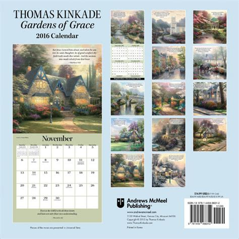thomas kinkade desk calendar 2018 thomas kinkade gardens of grace calendars 2018 on
