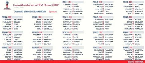 sorteo eliminatorias suramericanas para rusia 2018