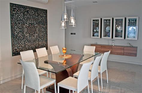 dining room feature wall mellieha penthouse contemporary dining room other metro by