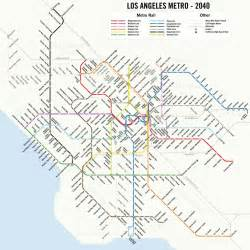 La Metro System Map by Map A Potential 2040 Los Angeles Metro Subway System Map