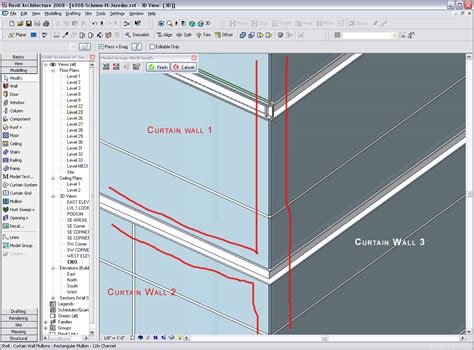 how to create a curtain wall in revit revitcity com curtain wall and mullion issues