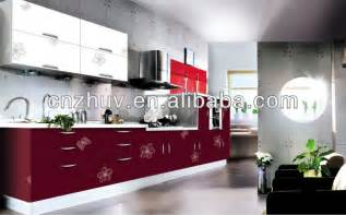 Kitchen Cabinets Direct From Factory high gloss red kitchen cabinet modern cupboard shutters