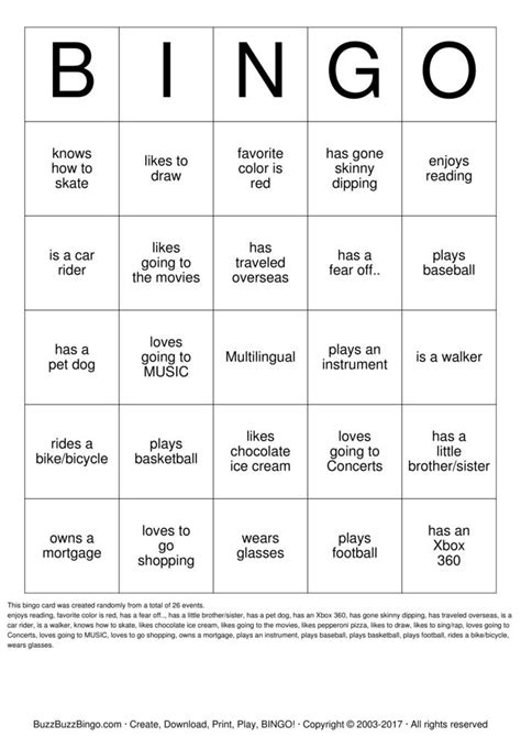 human bingo template human bingo bingo cards to print and customize