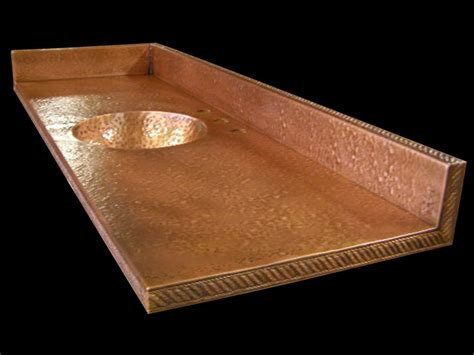Hammered Copper Bar Top by Circle City Copperworks Copper Bar And Counter Tops