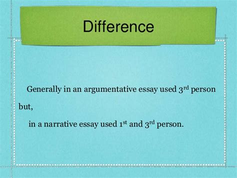 A Difference Essay by Difference Between Argumentative Essay Narrative Essay By Samsujjam