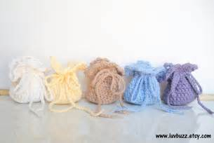 Crochet Wedding Favors Ideas by Crochet Wedding Favor Bags Set Of 20 Or More By Luvbuzz