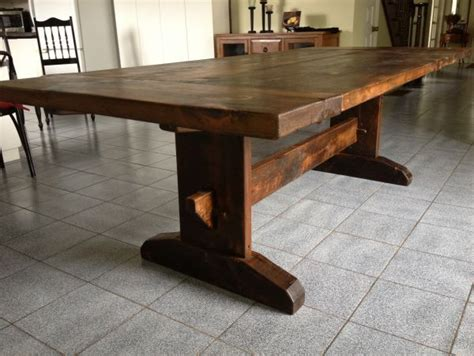 harvest dining tables trestle pedestal barn beam