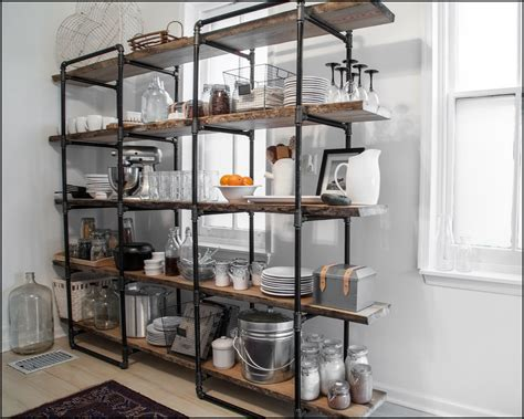 Kitchen. Industrial Kitchen Shelving Units: Industrial