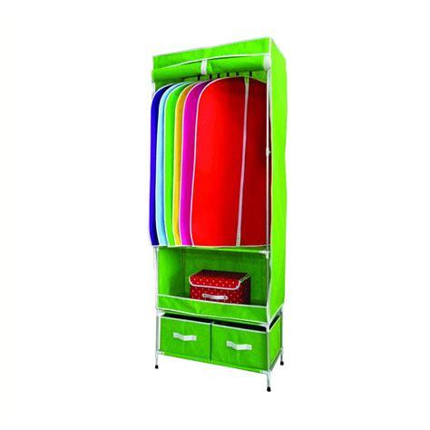 Lemari Pakaian Plastik Gantungan jual rakita rp002 aluminium gantungan lemari pakaian hijau muda harga kualitas